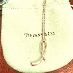 Tiffany & Co. Peretti Letter Initial L Pendant